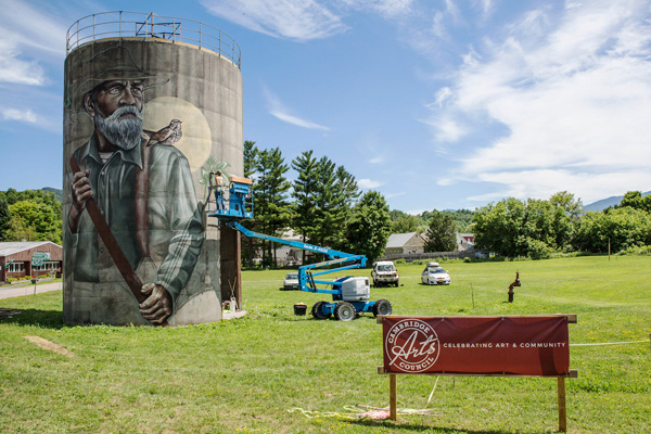 North Silo in Jeffersonville, VT by Jonthan Rutherford.