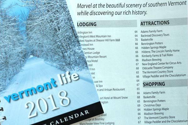 Vermont Life 2018 Calendar and Vermont Vacation Guide.