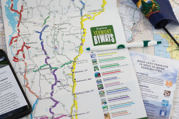 Vermont travel planner - byways brochure and VAA map.