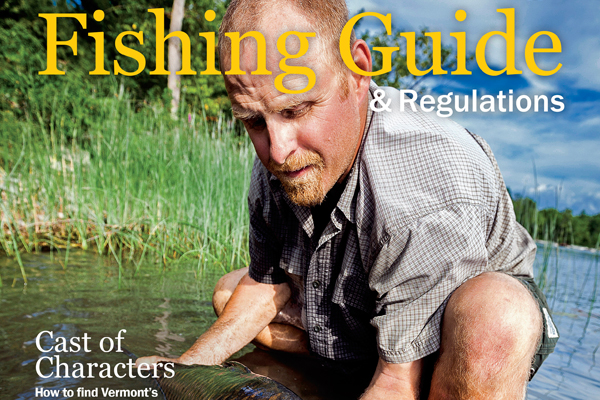 Vermont Fish & Wildlife eRegulations - Fishing Guide cover.
