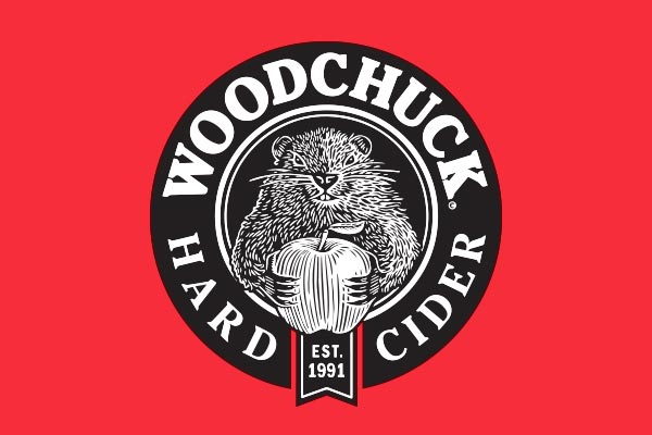 Woodchuck Hard Cider logo with red background.