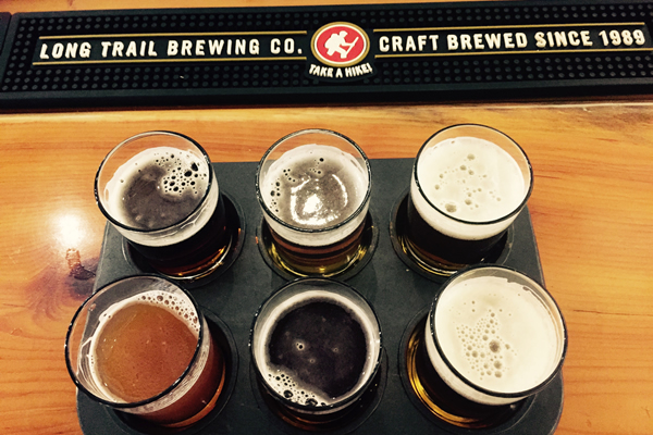 tasting at Long Trail Brewery
