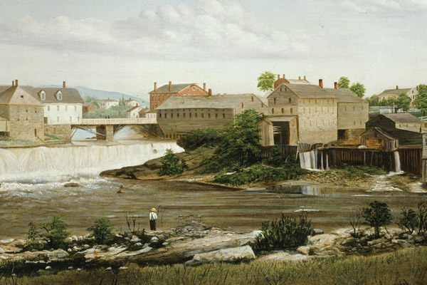 Middlebury Falls painted by James Hope Sheldon Museum