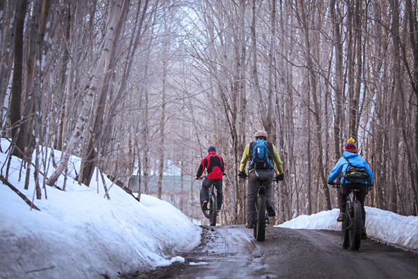 Fat Biking During Winter in Vermont