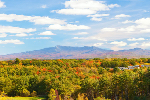Mount Mansfield in fall colors