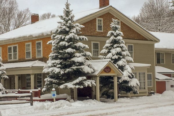 Waybury Inn in the snow
