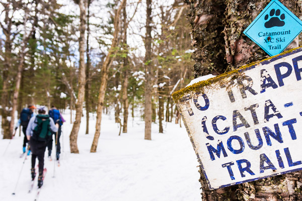 Catamount Trail to Trapp xc-skiing