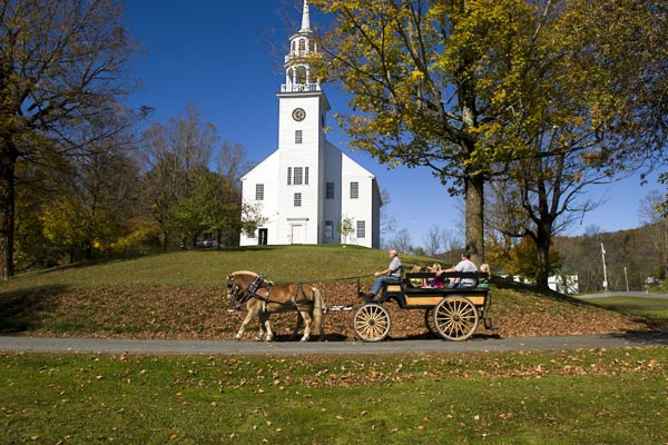 Justin Morrill Historic Site in Fall