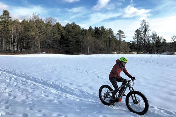 Fat Biking on a sunny day in Winter