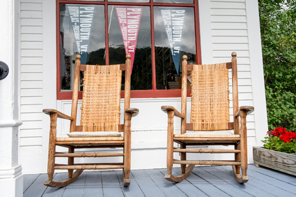 Calvin Coolidge State Historic Site Store Porch with Two Rocking Chairs