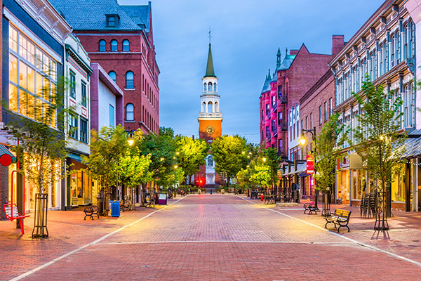 Church Street Marketplace in Burlington, Vermont