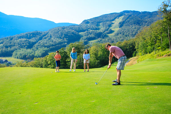 Stowe Mountain Lodge Golf Course Family Golfing