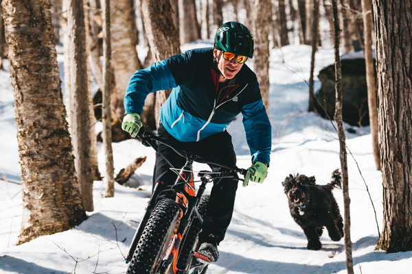 Fat Biking in the Winter with a dog