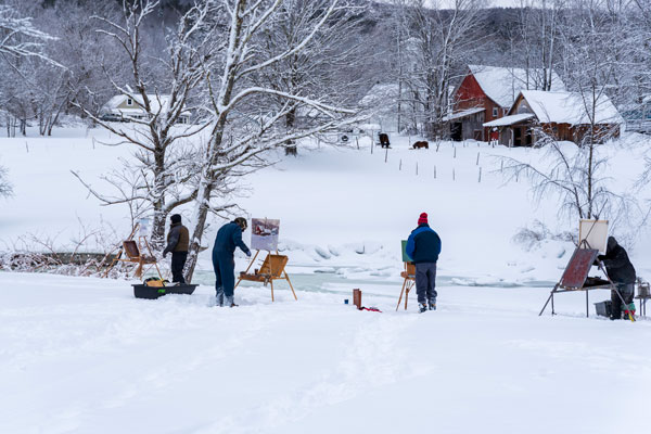 Art in Winter in Vermont