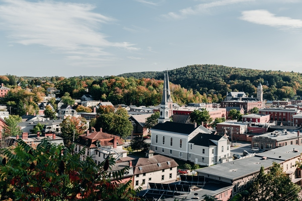 Aerial View of Montpelier Vermont