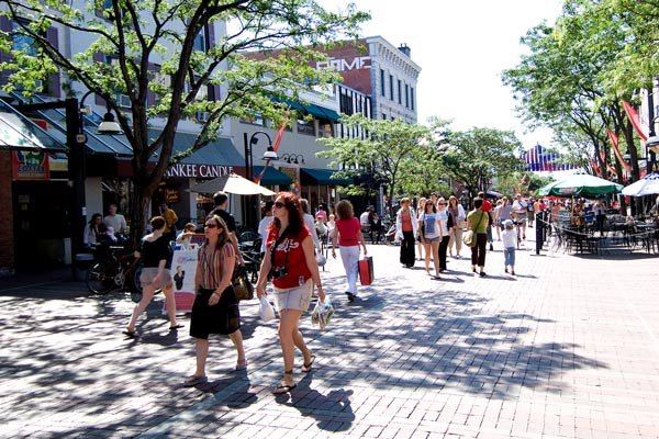 Shopping in downtown Burlington