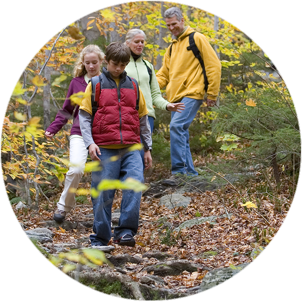 People of all ages enjoy hiking on trails near Wilmington